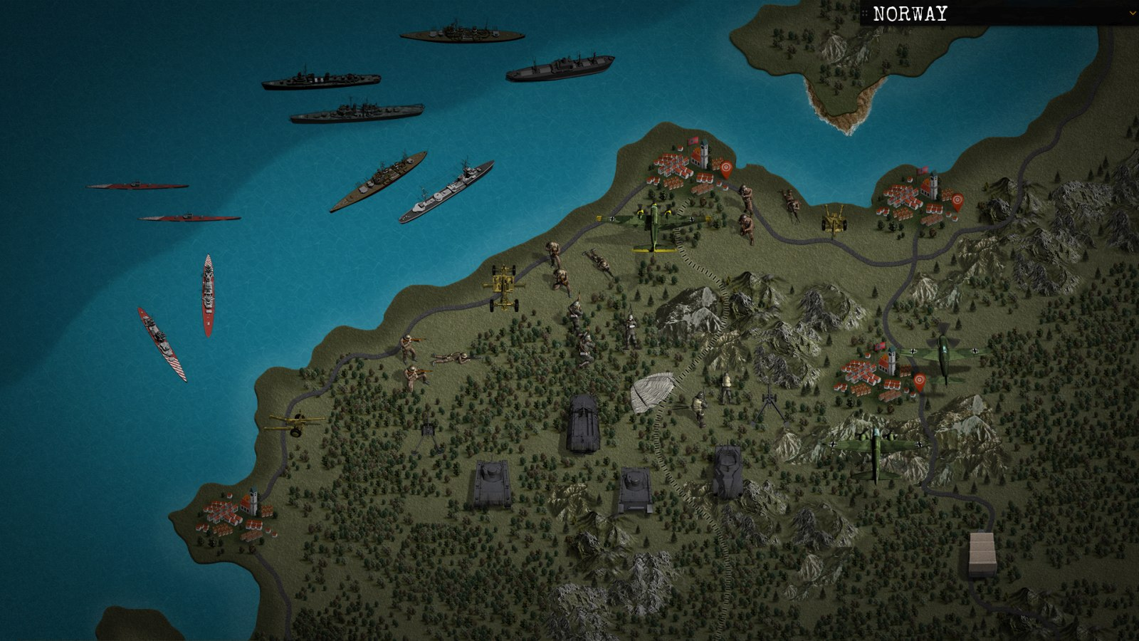 Klotzen The Game Turnbased Operational Strategy Game Set During WW - Norway map game